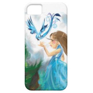 Blåttfågel och flicka iPhone 5 hud