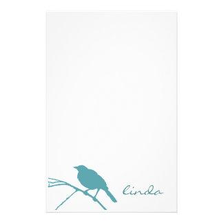 Blåttfågelbrevpapper - personifiera stationär