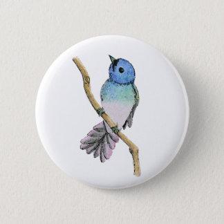 Blåttfågeln klämmer fast standard knapp rund 5.7 cm