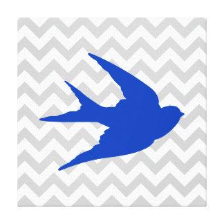 BlåttfågelSilhouette på sparrerandar Canvastryck