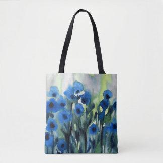 """""""Blåttfält av blomma abstrakt vattenfärg Tygkasse"""