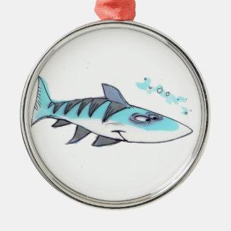 Blåttfiskprydnad Julgransprydnad Metall