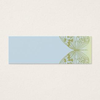Blåttfjäril & rand set av smala visitkort