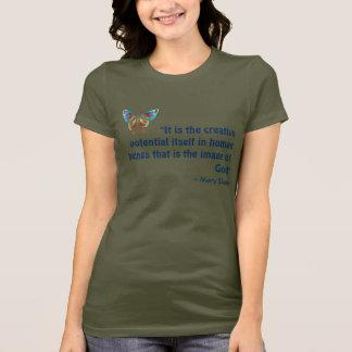 BlåttfjärilsT-tröja med inspirera citationstecken Tshirts