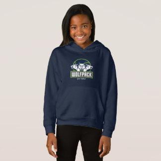 Blåttflicka WolfPack för Pullover för ull Hoodie