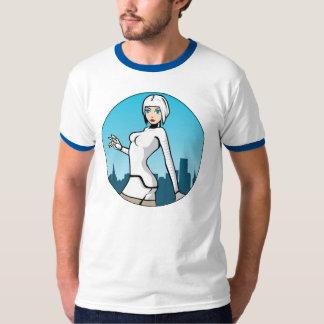 """Blåttförskjutning - """"Seesix"""" manar T-tröja för T-shirts"""