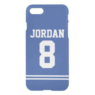 Blåttfotboll Jersey med numrerar
