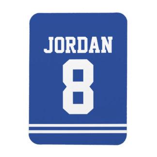 Blåttfotboll Jersey med numrerar Magnet