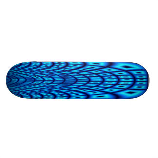 BlåttFractal Mini Skateboard Bräda 18,5 Cm