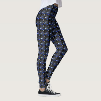 Blåttfractals Leggings