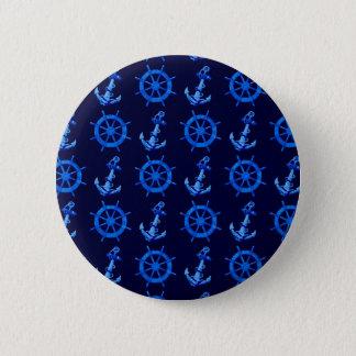 Blåttfrakter rullar och ankrar standard knapp rund 5.7 cm