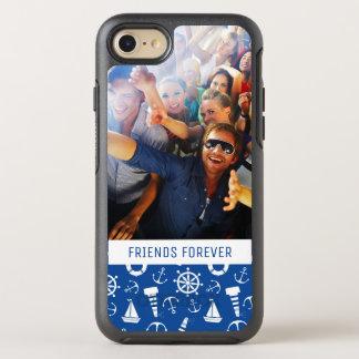 Blåtthavsmönster   din foto & text OtterBox symmetry iPhone 7 skal