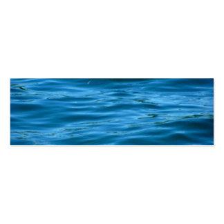 Blåtthavvatten Set Av Smala Visitkort