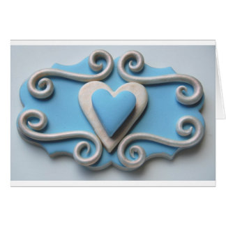 Blåtthjärta Hälsningskort