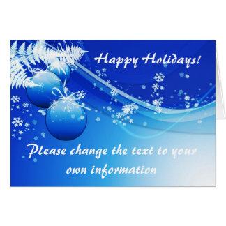 Blåttjul/helgdagkort Hälsningskort