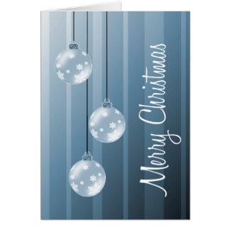 Blåttjulen klumpa ihop sig & görar randig god jul hälsningskort