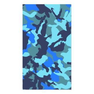 Blåttkamouflage Set Av Standard Visitkort