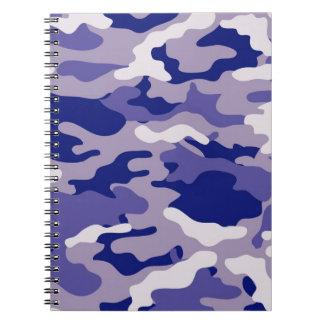 BlåttkamouflageCamo struktur Antecknings Bok