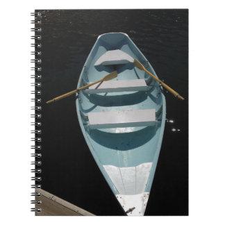 Blåttkanot Anteckningsbok Med Spiral