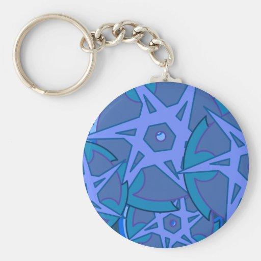 Blåttkanter Nyckel Ringar