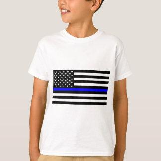 Blåttlivmateria - US-flaggapolisen gör blålinjen Tee Shirts