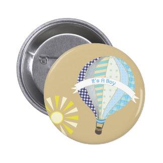 Blåttluftballongbaby shower knäppas standard knapp rund 5.7 cm