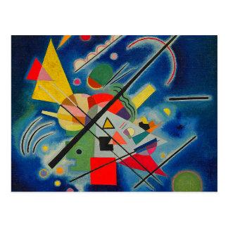 Blåttmålning av Wassily Kandinsky Vykort