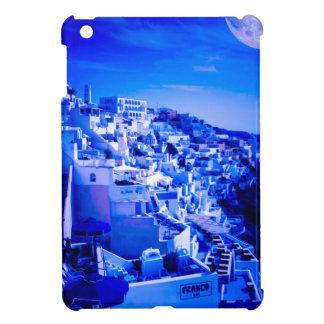 Blåttmåne över Fira Santorini iPad Mini Fodral