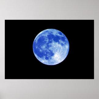 Blåttmåneaffisch Poster