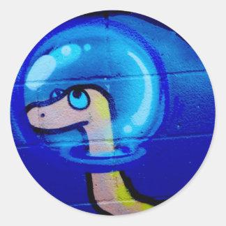 blåttmaskklistermärke runt klistermärke