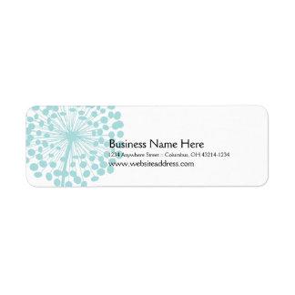 Blåttmaskrosreturetiketter (TBA) Returadress Etikett