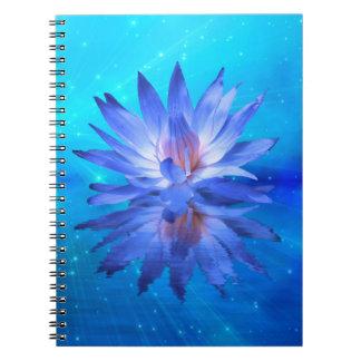 Blåttnäckrosanteckningsbok Anteckningsbok Med Spiral