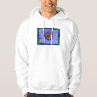 Blåttnäckrosblomma Sweatshirt Med Luva