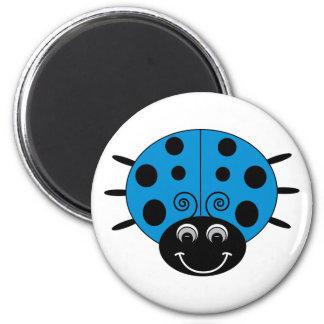 Blåttnyckelpigamagnet Magnet