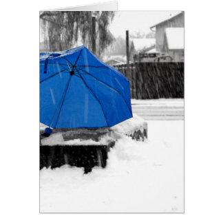 Blåttparaply Hälsningskort