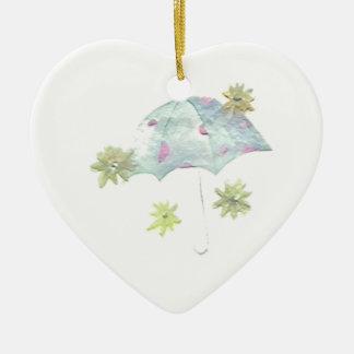 Blåttparaply Julgransprydnad Keramik