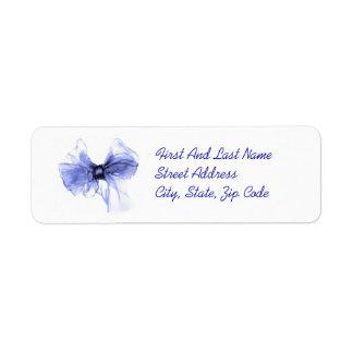 Blåttpilbågen skissar returadress etikett