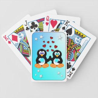 Blåttpingvinkärlek Spelkort
