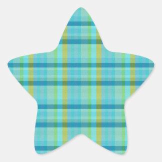 Blåttpläd av Shirley Taylor Stjärnformat Klistermärke