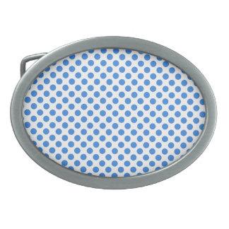 Blåttpolka dots med anpassadebakgrund