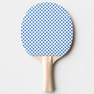 Blåttpolka dots med anpassadebakgrund pingisracket