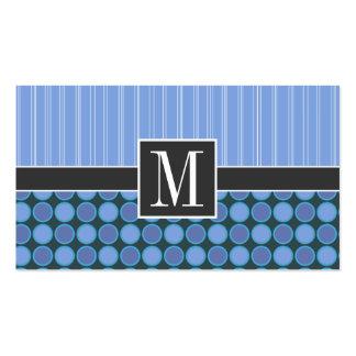 Blåttpolka dots & randar set av standard visitkort