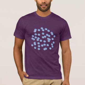 Blåttpolka dotsmanar T-tröja för klassiker Tshirts
