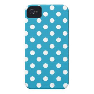 Blåttpolkaen pricker blackberry boldfodral iPhone 4 Case-Mate fodraler