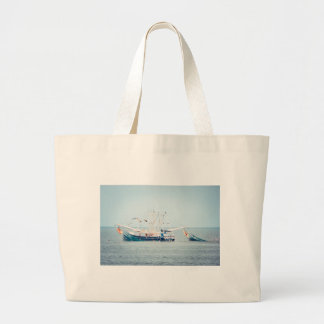 Blåtträkafartyg på hav jumbo tygkasse