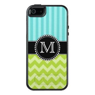 Blåttrandar och grön sparre, tuff som är OtterBox iPhone 5/5s/SE fodral