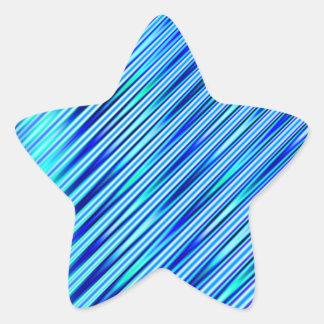 Blåttrandar Stjärnformat Klistermärke