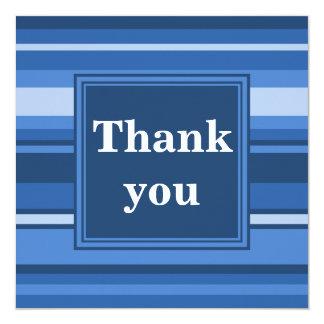 Blåttrandar tackar dig att card fyrkantigt 13,3 cm inbjudningskort