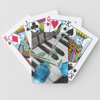 Blåttro på organ spelkort
