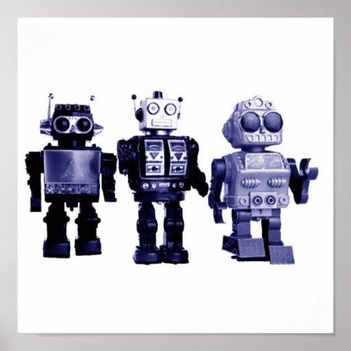 blåttrobotaffisch print